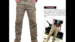 IX9 City Tactical Cargo Pants Combat SWAT Army Military Cotton Pockets Stretch Flexible Man Casual