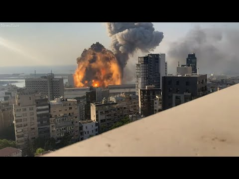 Multiple Scenes of Beirut Explosion💥 Caught in Camera. (WARN