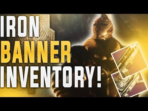 Destiny IRON BANNER INVENTORY! 1-17-2017 Binding Blaze, Titanium Orchid, 100% Tier 12 Armor!