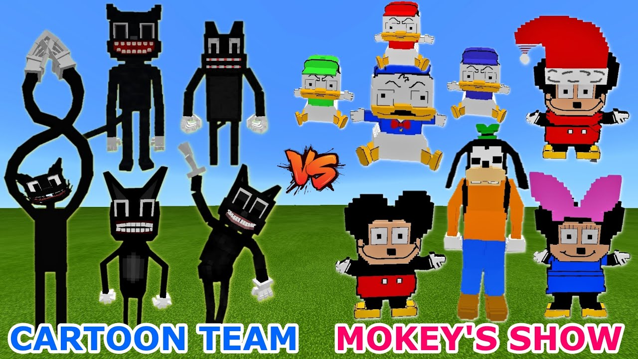 Piggy Family Vs Mokey S Show Mickey Mouse Parody But Henry Stickmin Distraction Meme In Minecraft Youtube