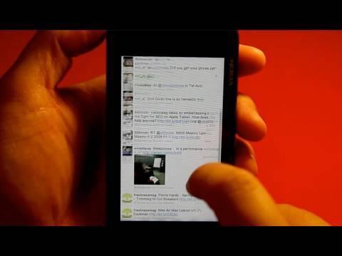 Nokia N900 Web browser Portrait Mode