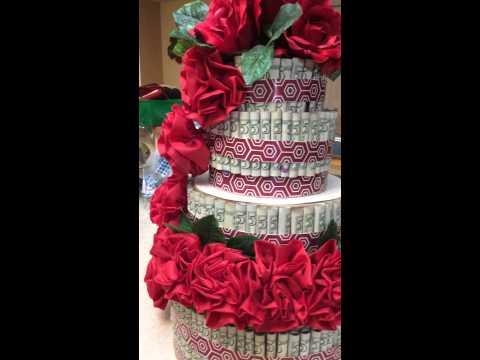 A 1000 Money Birthday Cake Youtube