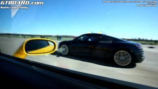 Audi R8 V10 vs Chevrolet Corvette Z06 x 3 races