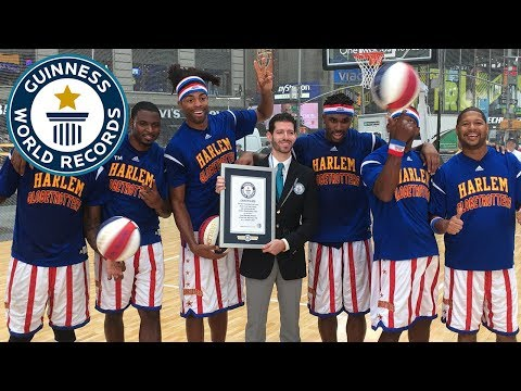 Harlem Globetrotters most half-court shots by a team - Guinness World Records
