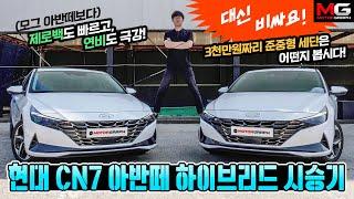 """현대 아반떼 하이브리드(CN7) 시승기...""""일반 모델은 내세울게 없네. 가속, 연비 모두 완패"""""""