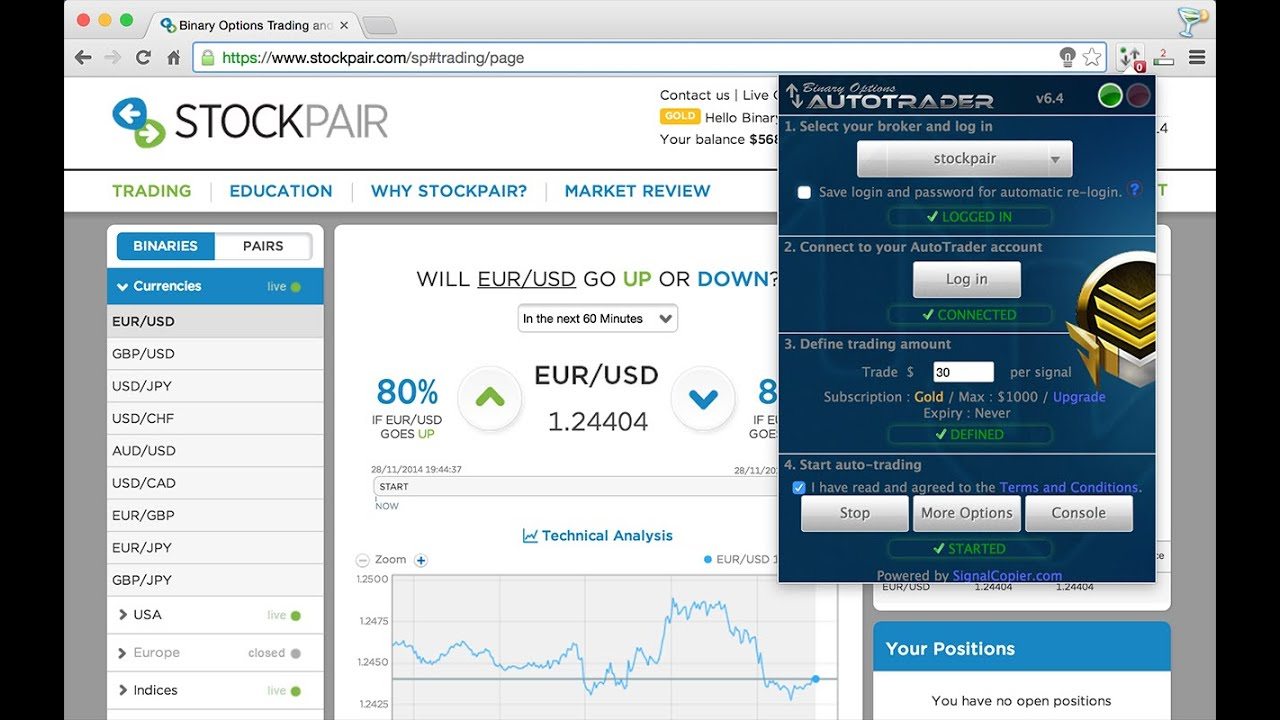 Binary options auto trading
