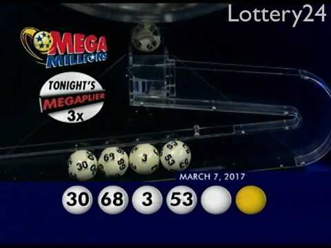 2017 03 07 Mega Millions Numbers and draw results