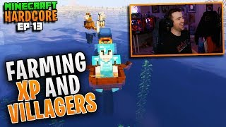 HARDCORE MINECRAFT! Farming XP AND VILLAGERS! Ep. 13