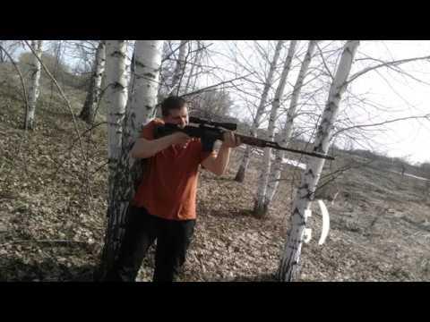 Стрельба из Тигра (7,62*54R) по швеллеру №16