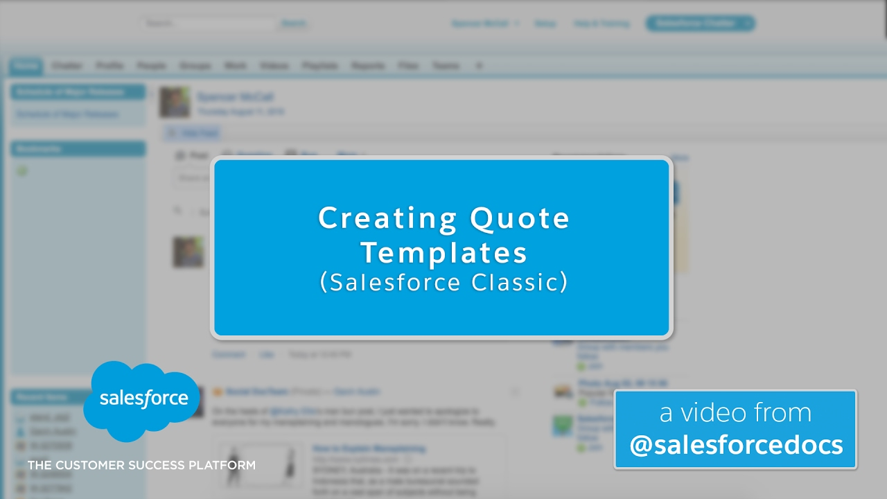 creating quote templates salesforce classic youtube