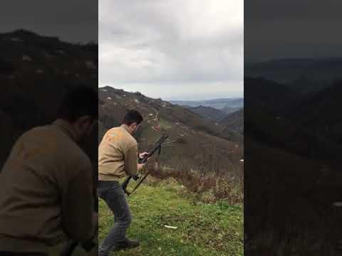Üzümlü  ax 42 otomatik av tüfeği ses fişeği atışı