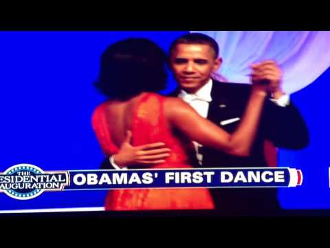 Inauguration Ball Dance President Obama First Lady Michelle Obama and Jennifer Hudson