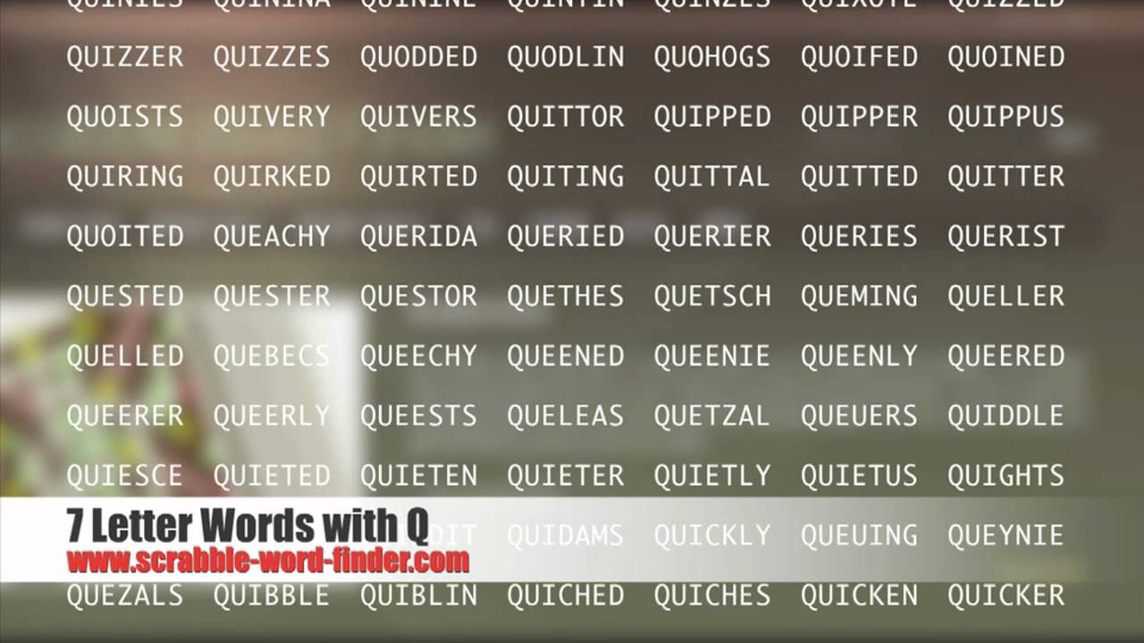 7 letter words with Q   YouTube