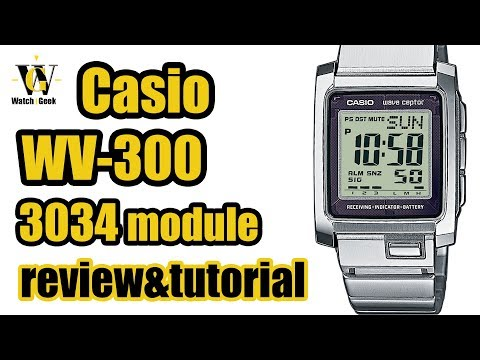 Casio WV-300 - module 3034 - review & tutorial on how to setup and use ALL functions