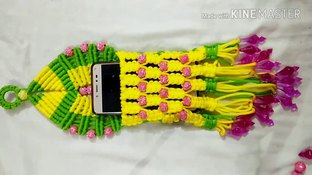New Design Of Macrame Mobile Pouch Youtube
