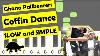 Download lagu coffin dance meme - easy piano tutorial (slow version)