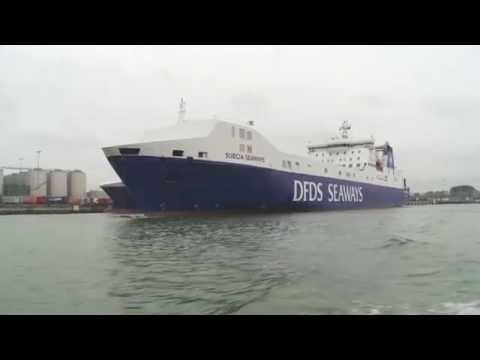 DFDS freight shipping business in Rotterdam