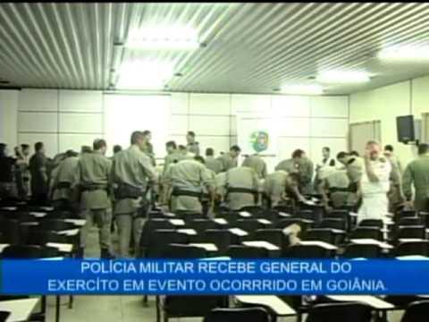 Polícia Militar recebe a visita do General do Exército em evento ocorrido em Goiânia