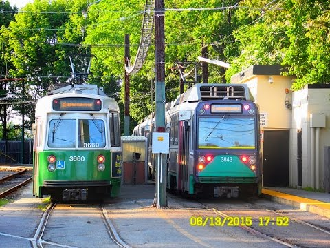 MBTA (Boston): GREEN Line - B, C, D, and E branches (Light Rail) - OUTBOUND... FULL RIDE!