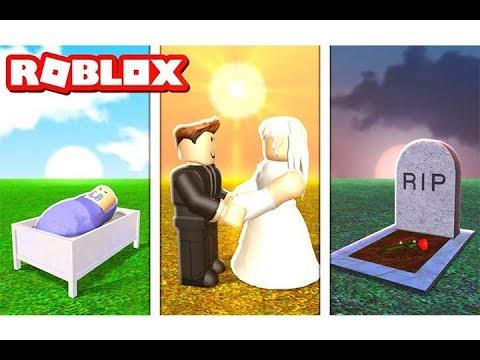 قصة حياتي من ايام الطفولة حتى الزواج في لعبة roblox !!
