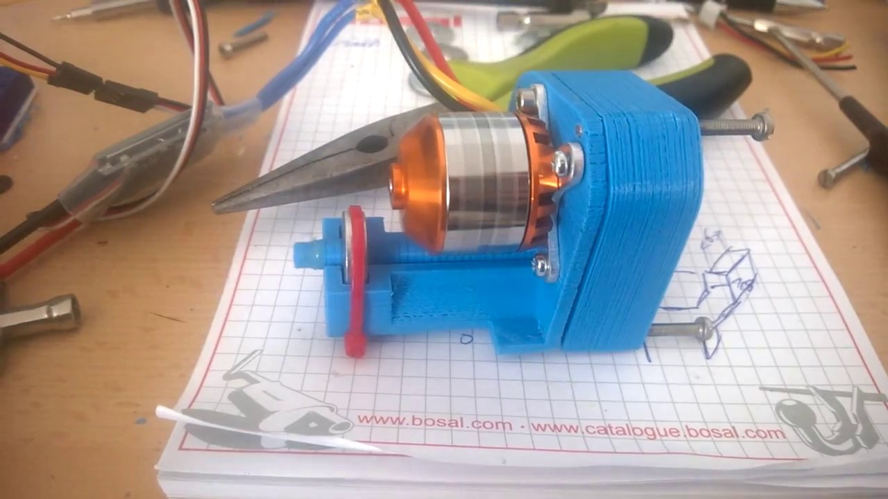 3D printed gearbox-test