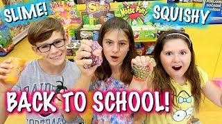 Slime Squishies & BACK TO SCHOOL Shopping & Haul in EUROPE!