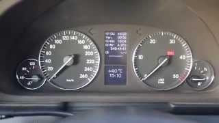 Mercedes C-Klasa W203 pomiar oleju, secret menu, menu serwisowe