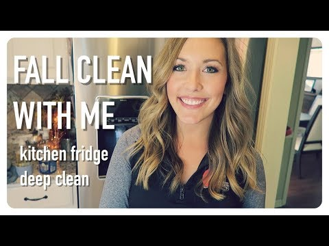 clean with me   kitchen refrigerator deep clean   fall cleaning   brianna k