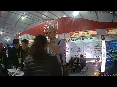 CES Exhibition in Las Vegas,Business use wearable camera KEHAN CubeCam C90