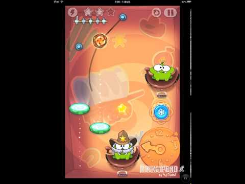 Cut the Rope Time Travel 8-13 Wild West Walkthrough