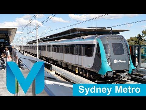 Trains On The Sydney Metro Northwest - Australia's First Metro Line (Opening Day)
