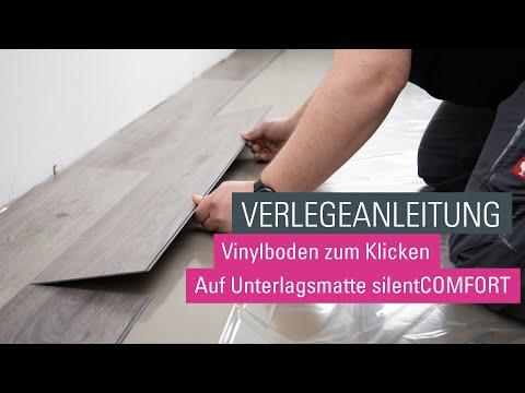 wineo Klick Vinylboden verlegen   Verlegevideo Vinylboden zum Klicken   Designboden