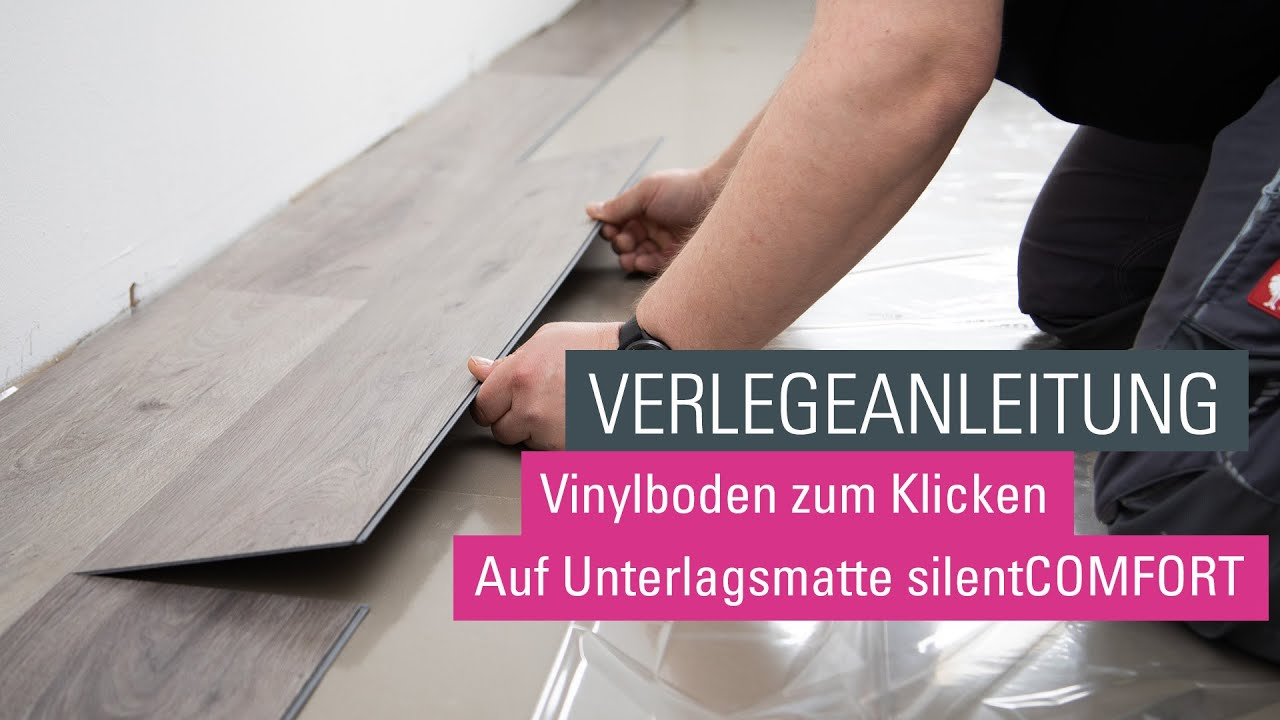 wineo klick vinylboden verlegen verlegevideo vinylboden zum klicken designboden youtube. Black Bedroom Furniture Sets. Home Design Ideas