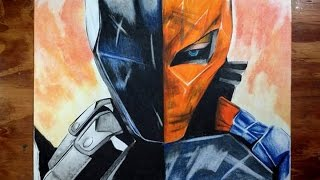 Como colorear a deathstroke,  how to draw deathstroke