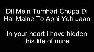 zindagi do pal ki- Kites with Hindi lyrics and English translation