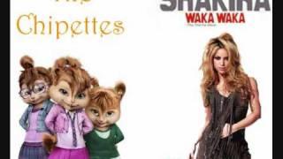 Shakira - Waka Waka (Esto es africa-Español) (The Chipettes) [HD]