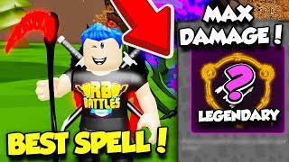 I UNLOCKED The MOST POWERFUL NEW LEGENDARY SPELL In WIZARD SIMULATOR!! (Roblox)