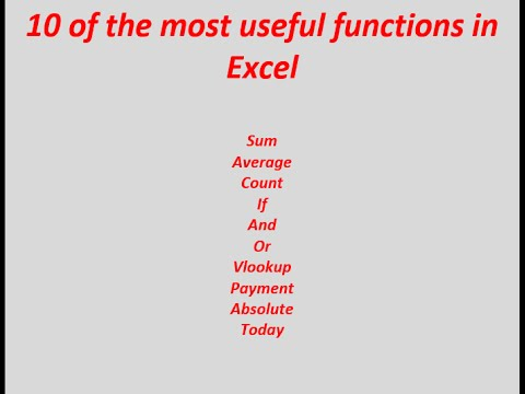 An Excel learners guide to 10 of the most useful functions and formulas in Excel