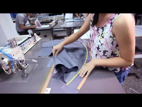 Template of sewing waistband for trousers