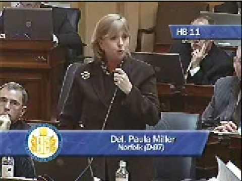 Del. Paula Miller on HB11
