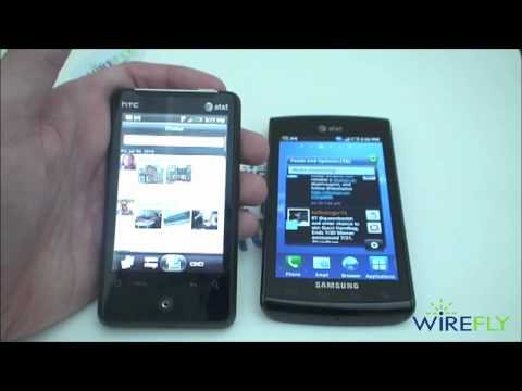 Samsung Captivate vs. HTC Aria Schmackdown