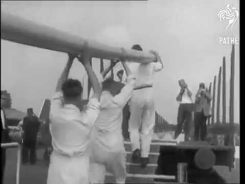 Rare Footage Of Giant Pipe Transportation By Wavin In Holland In The 1960s