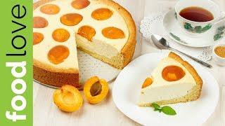 Очень нежный пирог с абрикосами и творожной начинкой | Десерты | FoodLove