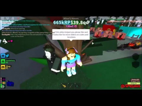 miners haven codes & masked man location *expired*