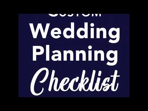 how to get your printable wedding planning checklist youtube