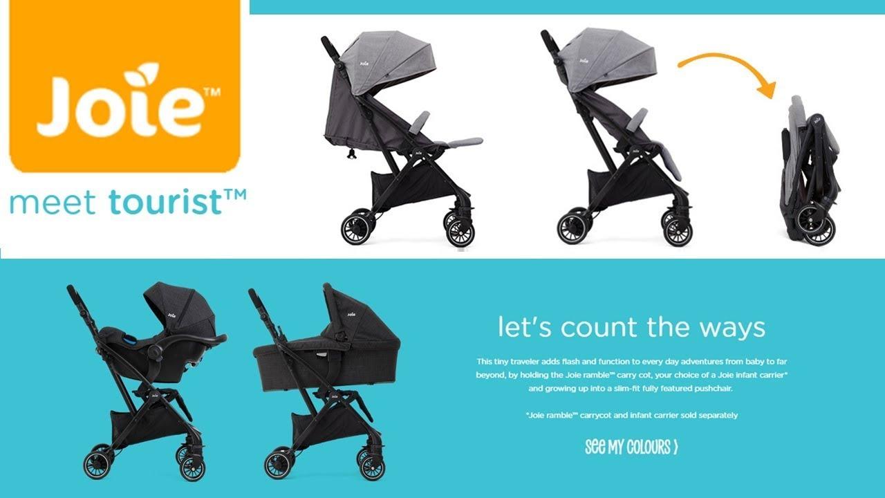 【New 2019】Joie Tourist Compact Stroller   Auto Folding Mechanism