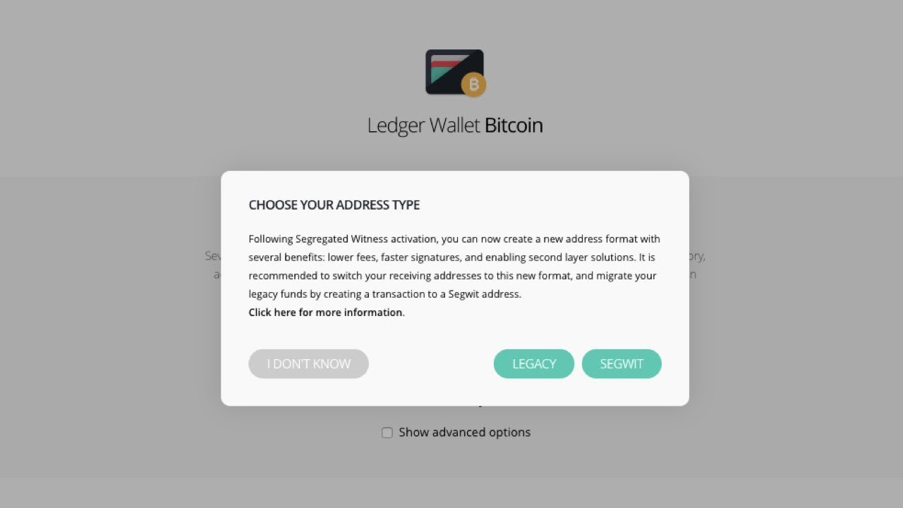Bitcoin Ledger Choosing Your Address Type Litecoin Live Transactions