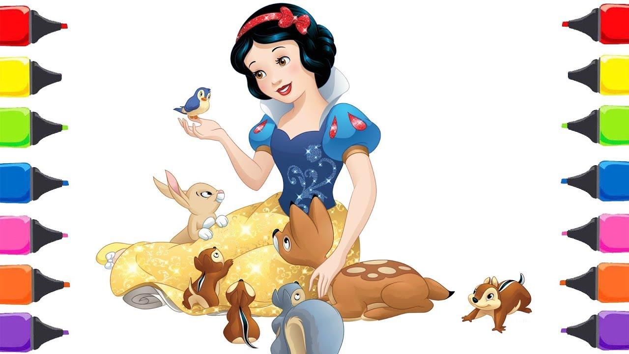 Pamuk Prenses Ile Yedi Cüceler Masalı çizgi Film Boyama çocuk