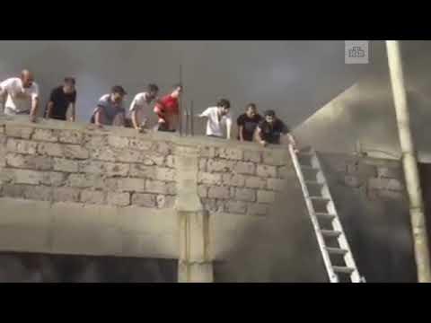 Пожар в ТЦ Малатия Молл в Ереване
