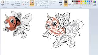 How to Draw Pokemon Like a Pro With Paint  119 Seaking
